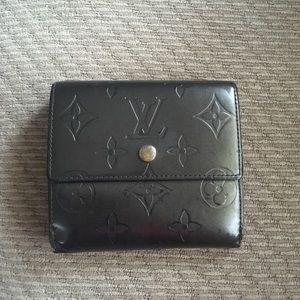 LV grey vernis snap wallet